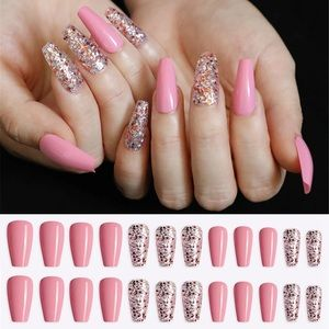 BNIB sparkle and pink nails